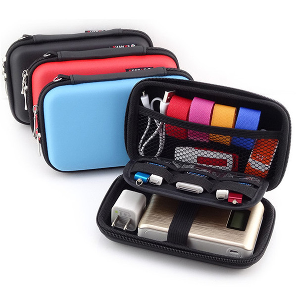 Universal Power Bank Bag Earphone Tidy Bag Waterproof Shockproof Bag For Cellphone USB Cable with OPP Package SCA247