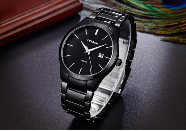 relogio masculino CURREN Luxury Clastic Analog sports Wristwatch Display Date Men's Quartz Watch Business Watch Men Watch 8106