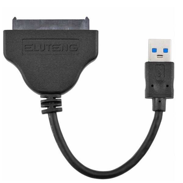 Wholesale- ELUTENG USB to SATA Adapter Cable External SATA3 USB3.0 Converter 5Gbps for 2.5 Inch SSD or HDD Solid State Hard Drive Max 2TB