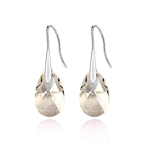 New trendy water drop shaped crystal pendant earrings Made with Swarovski ELEMENTS best Christmas gift for girlfriend nickel free