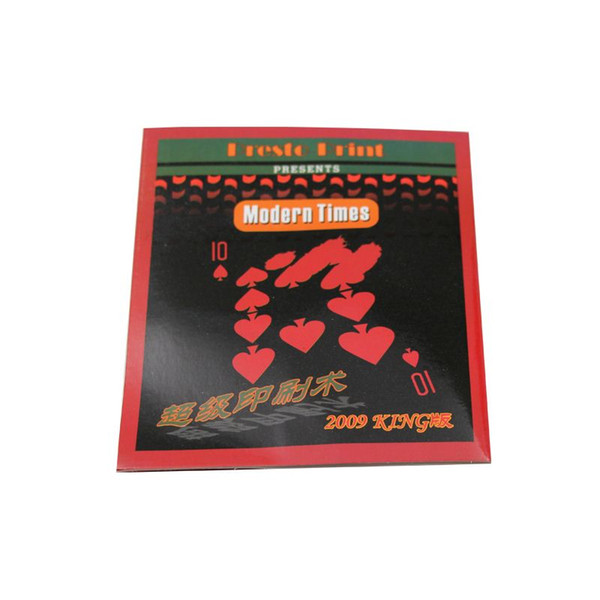 2 set / lote Presto printo Tarjeta Rápida Súper Tarjeta de Impresión de cerca truco de magia calle Prop Tarjeta Magic Poker Envío gratis 81047