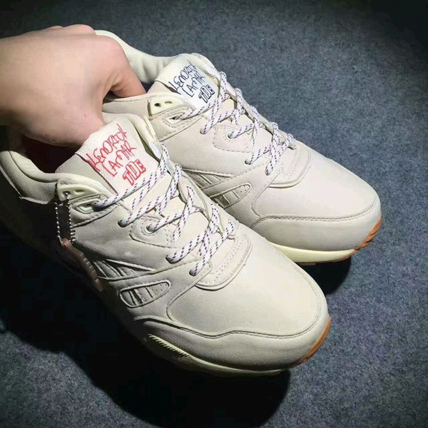 """2017 Genuine leather KENDRICK LAMAR Ventilator """"Neutral"""" KL Men and Girl white Breathable Outdoor Anti-skid Casual shoes Sports shoes"""