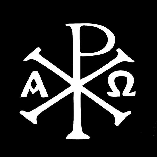 Großhandel Gläubiger Glaube Antike Christliche Chi Rho Px Symbol Auto Aufkleber Für Fenster Stoßfänger Kajak Auto Abdeckung Reflektierende Vinyl