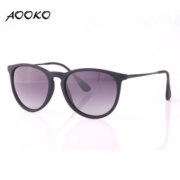 AOOKO Moda Erika Moda Erike Polarized Gradient Sunglasses Marca Vintage Ladies Hombre Mujer Chris Sun gafas Oculos De Sol mate marco