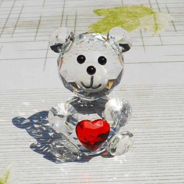 Wholesale- Red Crystal Chirstmas Sale decorative animal Bear figurines Diamond souvenirs for superhero bachelorette party gifts supplies