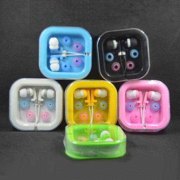 In-Ear Earbuds Earphone for mobile phone Headphones MP3 MP4 Microphone 3.5mm Audio with Packing Free DHL Shipping