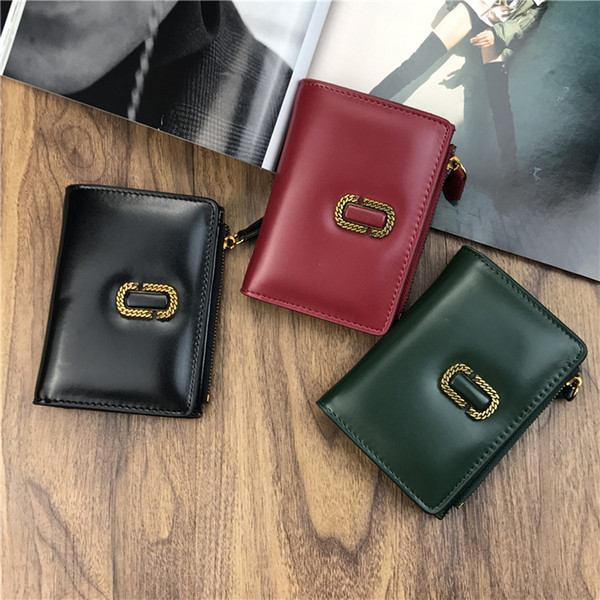 1pc Designer Retro Long Wallet Short Zipper Small Wallets black Brown Leather Wallet Tide Purse Lady PU Leather Purse For Woman