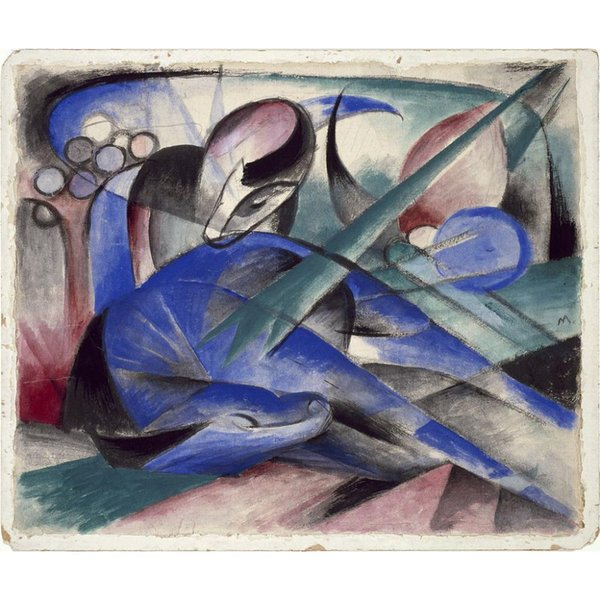 Canvas art Dreaming Horse Franz Marc Paintings oil reproduction High quality Hand Painted