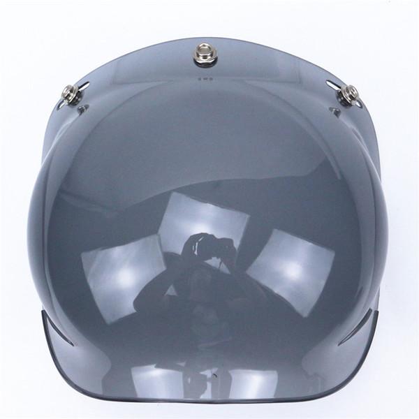 new 3-snap viseira bolha vintage motorcycle helmet bubble shield visor lens glasses retro visor wind shield 12 colors avaiable