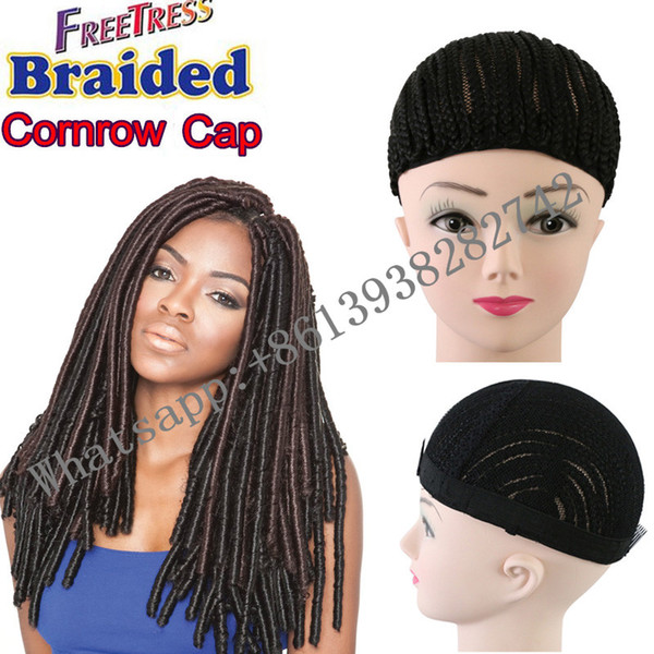 Faux locs crochet braids hair use Cornrows Wig Cap for making wig lace wig caps for making wigs adjustable Strap Glueless Weaving cap net