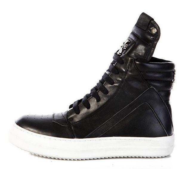 CH black white bottom Leather