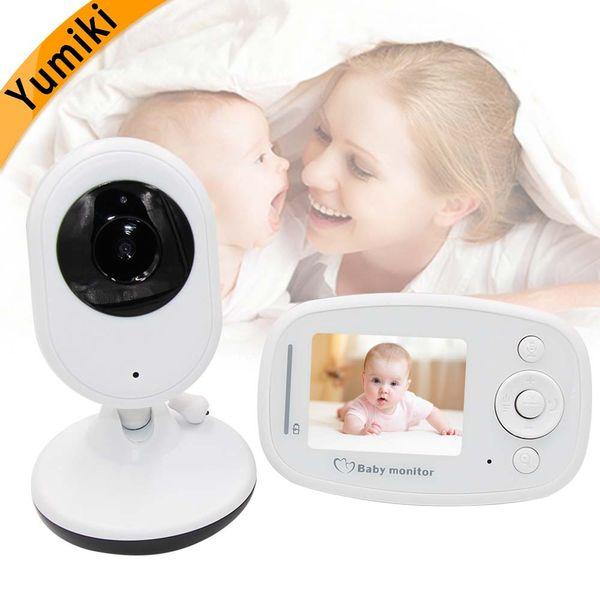 Commercio all'ingrosso- Yumiki 2.4inch Wireless Baby Monitor visione notturna della fotocamera Monitoraggio della temperatura della musica audio comunicazione a due vie