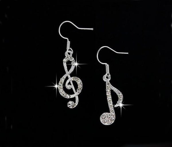 New Summer Music Drop Earrings Fashion Crystal Dangle Earrings Jewelry Accessories for Women Gift Free Shipping