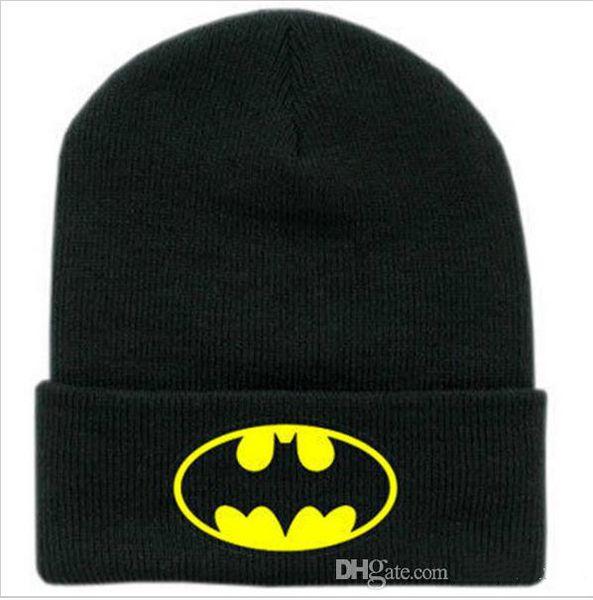 New Winter Caps Batman Face Mask Unisex BBOY Beanies Women Black Hip Hop Casual Mens Knitting Warm Gorros Ski Bonnet Skullies