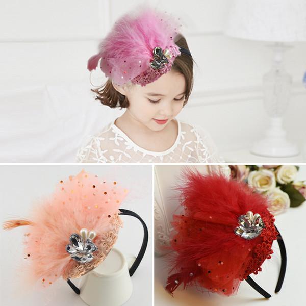 headbands for babies feather headband accessories elastic