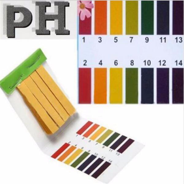 Strisce reattive per pH dell'acqua Corrispondenza universale per carta al tornasole Acquario 1-14 Indicatore alcalino acida Analizzatori di misuratori di carta PH