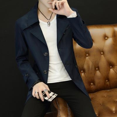 Yeni Sıcak Satış Mens Siper Palto Sonbahar Kış Kore Tarzı Orta Uzunlukta Erkek Gelgit Genç Yün Boys Pardesü Artı Boyutu 9XL Erkek Giyim