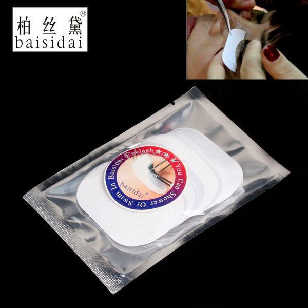 Wholesale- baisidai 150 Pairs Silk Under Eye Patch Pad Sticker Lint Free Eyelashes Extension Tool