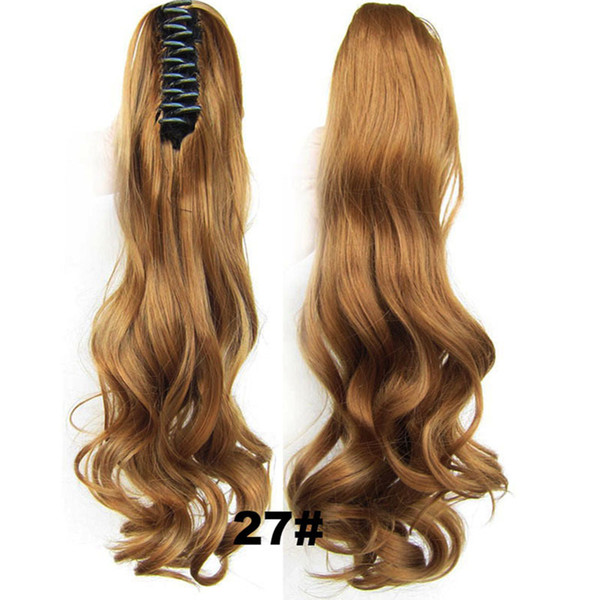 """no lace Daily wigs Cosplay Hair Peruca Pelucas 22"""" 170g 1 pc Fashion Women Long Synthetic hair Curly Claw Ponytail Red peruca feminina peluc"""