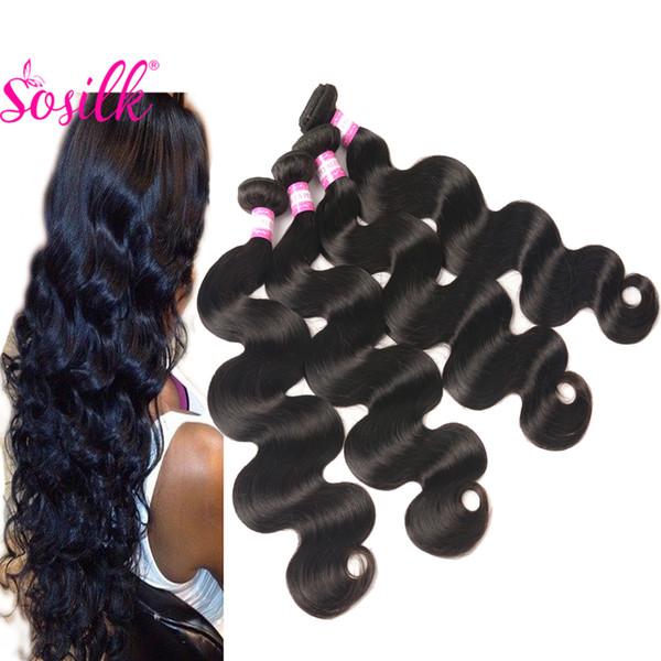 4 Bundles Deals Brazilian Body Wave Hair Bundles Mink Unprocessed