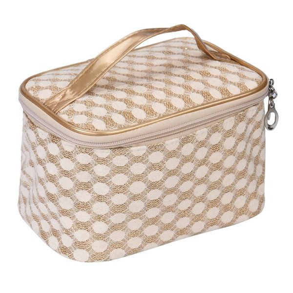 Wholesale- 2016 New Cosmetic box female Quilted professional cosmetic bag women's large capacity storage handbag travel toiletry makeup bag