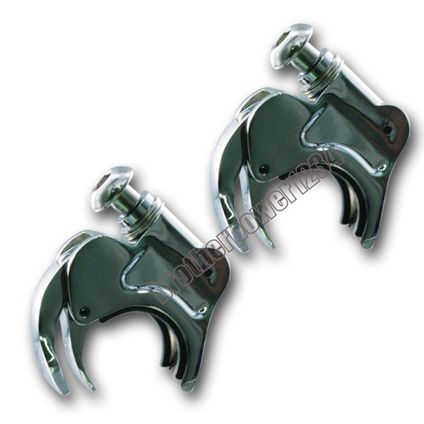top popular 49mm Detachable Windshield Clamps For Harley Street Bob FXDB 2006-2016 2021