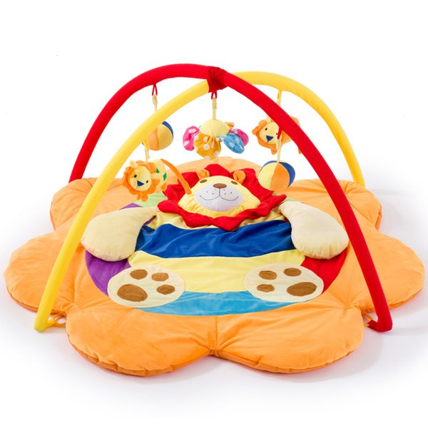 Cute Lion Baby Play Mat Toy Baby Kids Festival Gifts Indoor Outdoor Toddler Musical Activity Gym Play Blanket Crawling Pad
