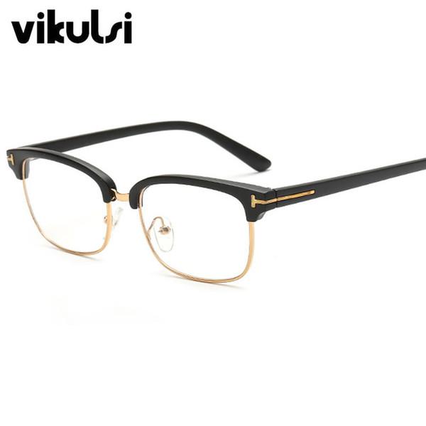 Atacado- 2017 Moda Eye Glasses Frames designer de luxo Mulheres Homens Óculos claros Óculos Ópticos Frames Oculos Retro Vintage Spectacles
