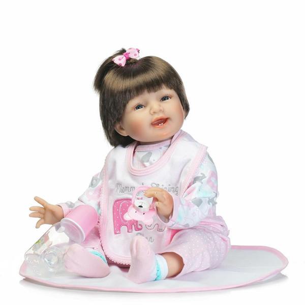 Bambole per neonati rinato in silicone da 22 pollici Panno morbido Body Baby Alive Fashion Dolls Giocattoli per ragazze Regali di Natale di compleanno Brinquedos