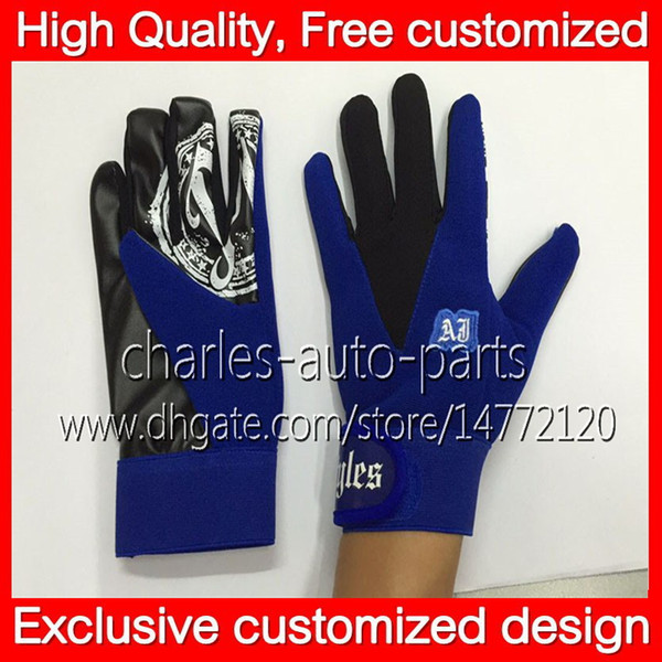100% New Blue Gloves Hot Exclusive customized design Blue AJ Styles Gloves Unisex Sports Bone Women Man Children New AJ Gloves Free shipping