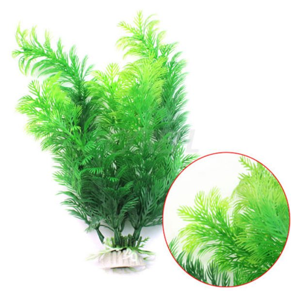 NEW Simulation aquatic plants Submarine Ornament Artificial Green Underwater Plant Fish Tank Aquarium Decor