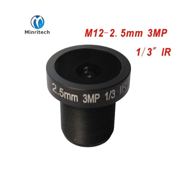 cctv lens panoramic camera 2.5MM 3MP ultra wide angle lens M12 monitoring interface fixed board lens