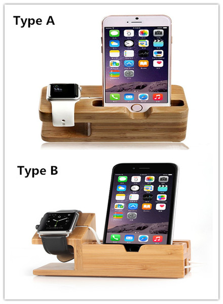 TOP Quality Wood Charging holder mounts Bracket Docking Charger Station for iphone 6 6 plus 5S and Apple Watch iwatch 38mm 42mm