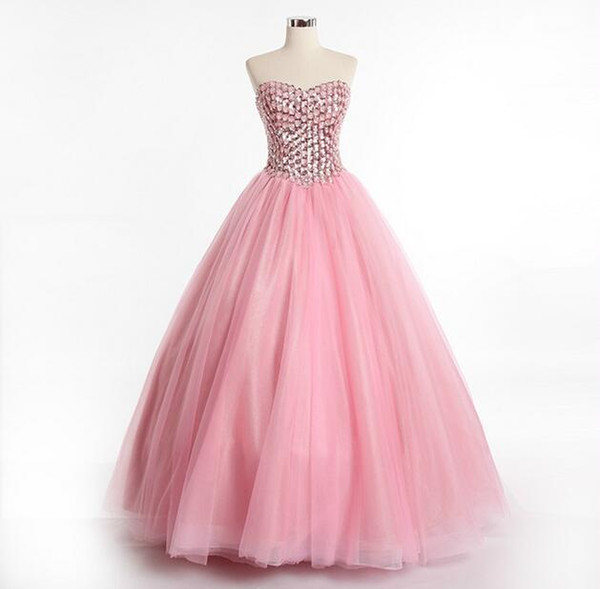 Amazing Design Sweetheart Bandage Ball Gown Prom Dress With Rhinestone Bodice Royal Queen Dress Fashion 2017 New Style