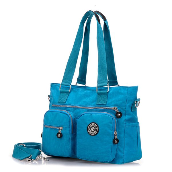 JINQIAOER Waterproof Nylon Women's Bag Ocean Blue