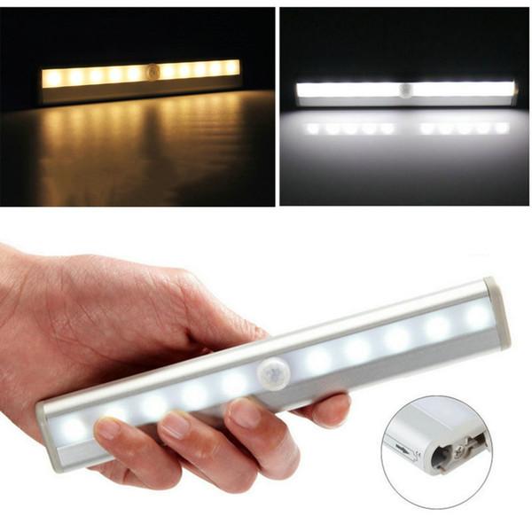 Toptan Satış - Sıcak !!! 2016 Yeni Style10 LED IR Kızılötesi Hareket Dedektörü Kablosuz Sensör Dolap Dolap Işık Lambası Dünya Çapında Mağaza