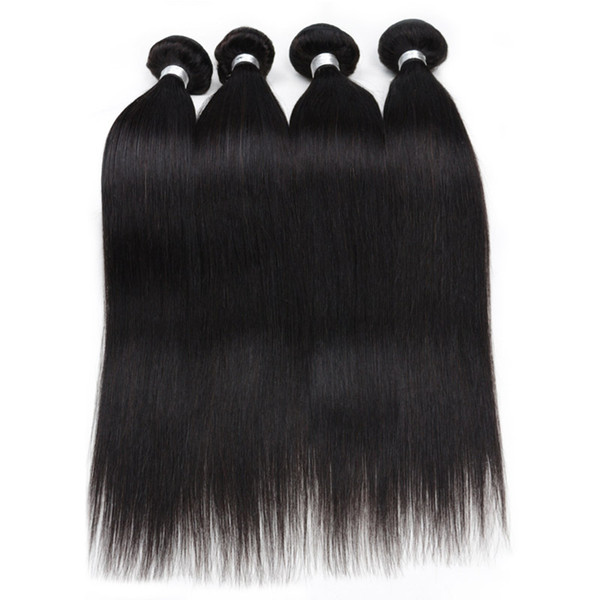 Malaysian Virgin Hair Extensions Human Hair Weave 5PCS/Lot Straight Hair Weave Bundles Good Quality No Shedding 8-28inch Available in ARed