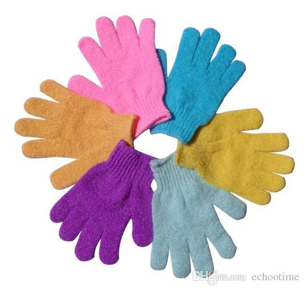 top popular big promotion !!Moisturizing Spa Skin Care Cloth Bath Glove Exfoliating Gloves Cloth Scrubber Face Body 2019