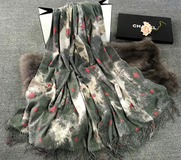 Großhandel 2017 Korea Farbstoff Kaschmir Schal Modal Streifen Schal ...