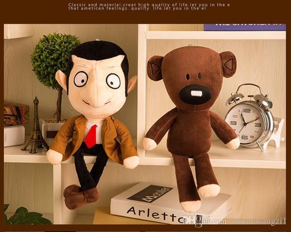 Sevimli karikatür 1 adet 30 m Mr Bean ayıcık bebek peluş oyuncaklar doğum günü hediyeleri