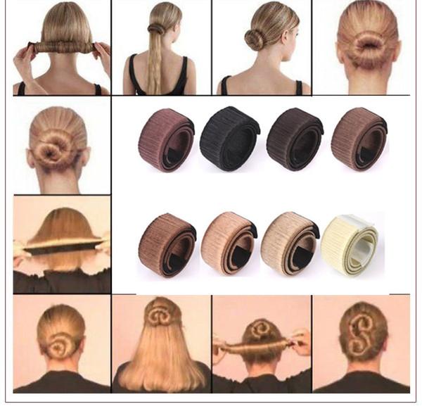 Düz saç bigudi Donuts Tomurcuk Kafa Bandı Topu Fransız Büküm Fransız Sihirli Bun Maker Tatlı Saç Braiders FA502