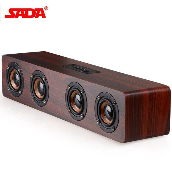 Großhandels- SADA 2017 Retro- hölzerner drahtloser Bluetooth Lautsprecher beweglicher Lautsprecher MP3 Computer-Sprecher 3D Lautsprecher USB, das enceinte auflädt