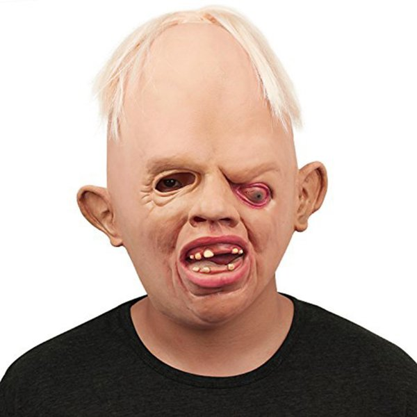 Wholesale- High Quality Horrible Monster Adult Latex Masks Full Face Breathable Halloween Masquerade Mask Fancy Dress Party Cosplay Costume