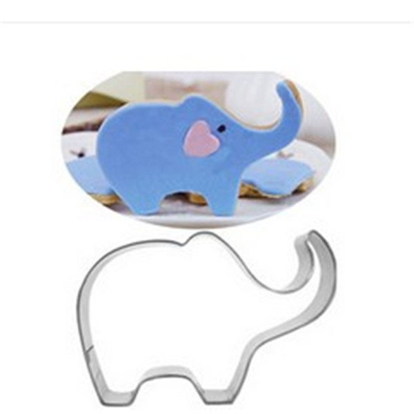 Animal ELEPHANT Shape Aluminum Biscuit Mold Bakeware Fondant Cake DIY Sugar craft 3D Pastry Cookie Cutters Baking Tools