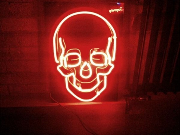 "17"" x 14""Haunted House SKULL Cranial Neon Light Sign Display Beer Bar Pub Club"