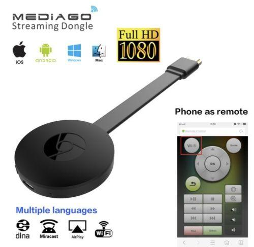 HD 1080P Wecast Wireless Display Dongle TV Stick récepteur sans fil HDMI Support Miracast / AirPlay / DLNA pour les appareils iOS Android Windows Mac OS