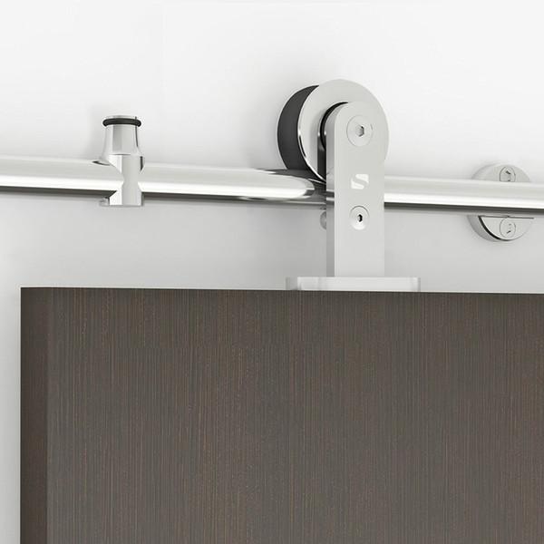 best selling ( USA free Shipping ) Modern 6.6' Interior Sliding Barn Door Kit Hardware Set - Stainless Steel Tube