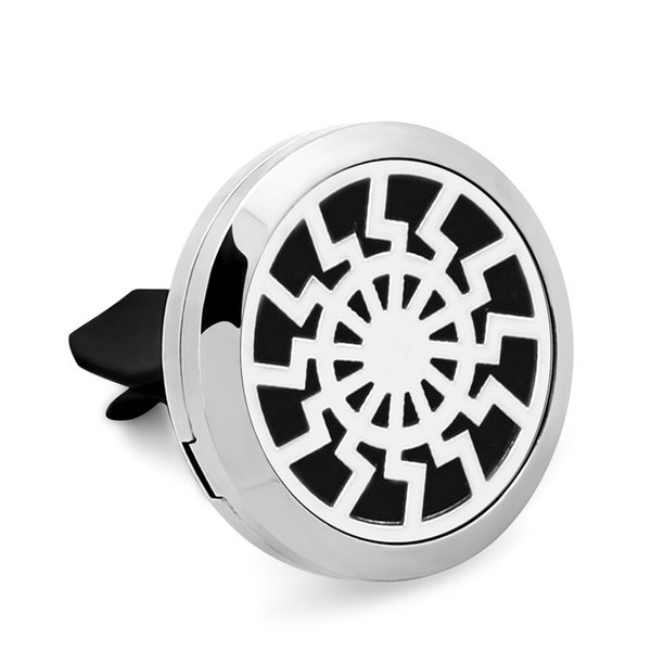 New 2Style High Quality Sun Car Perfume Locket 30MM 316L Stainless Steel Car Aroma Perfume Locket Christmas Gift