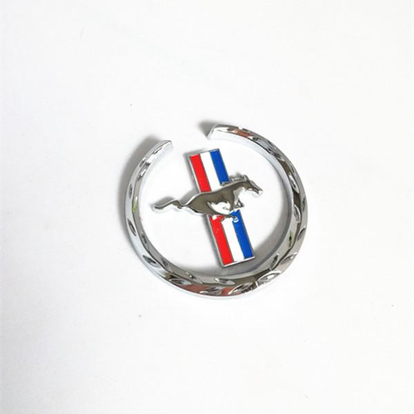 1PCS Car styling 3D CHROME METAL EMBLEM MUSTANG HORSE 6.2*5.9CM emblem car body sticker decal badge universal