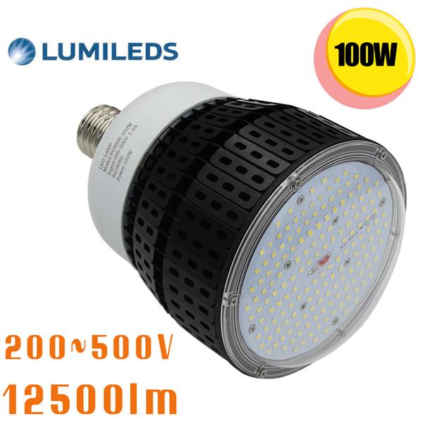 E39 Mogul Base 480V 347V LED Corn Bulb Parking Lot light 120Watt Daylight 5000K